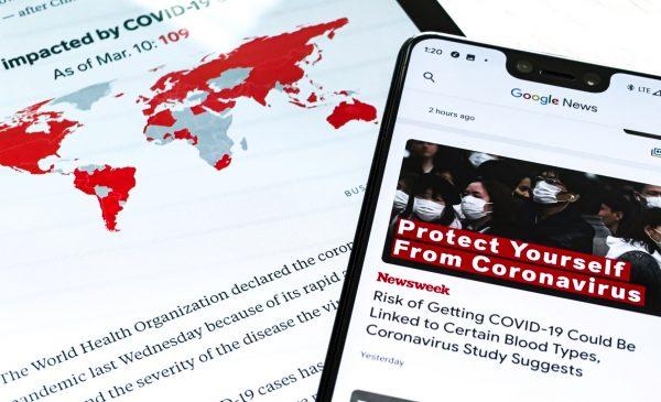 stock photo representing coronavirus news