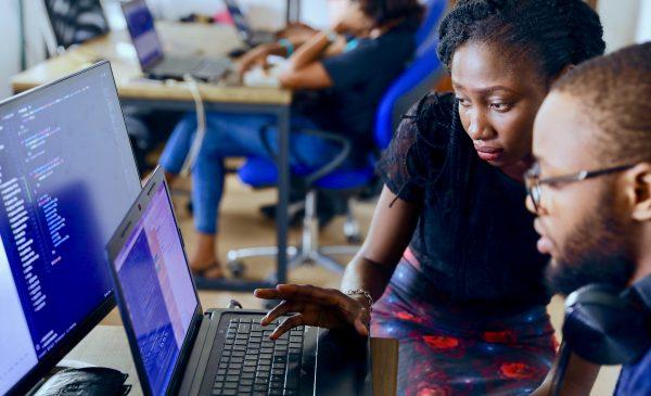 stock photo representing teaching computer skills