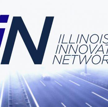 IIN logo over highway