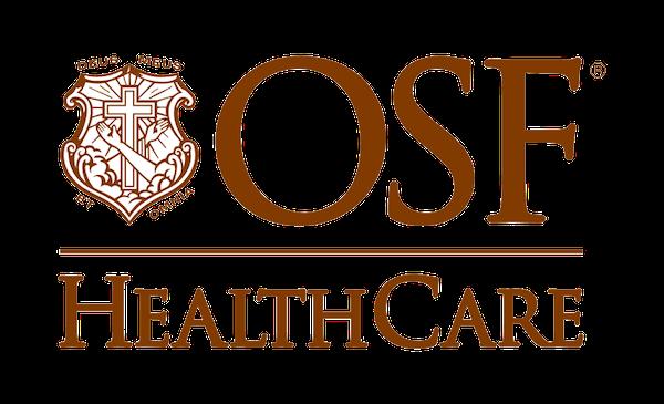 OSF HealthCare building logo
